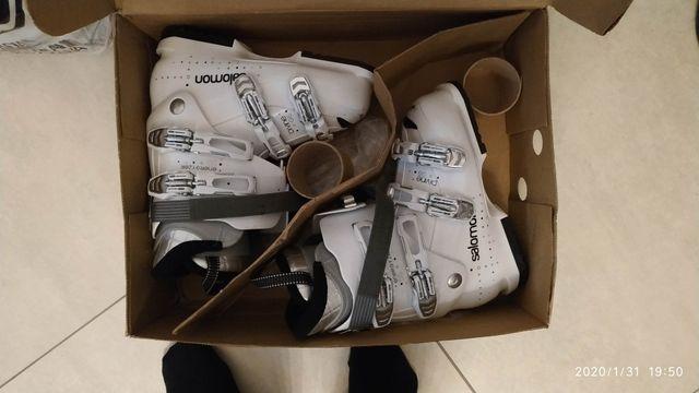 Buty damskie Salomon narciarskie białe 55 model Divine GS Energyzer