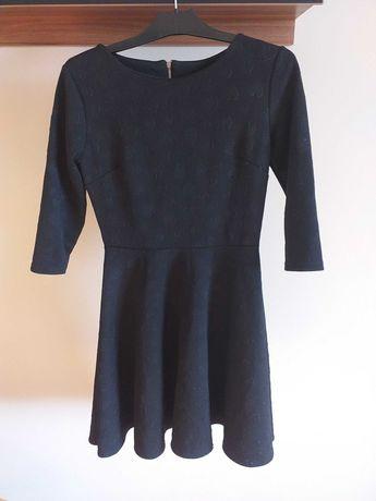 Sukienka czarna w serduszka