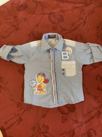 Рубашка для мальчика 6-12 месяцев