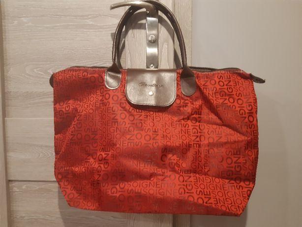 Duża torba shopper bag praktycznie nieużywana torebka