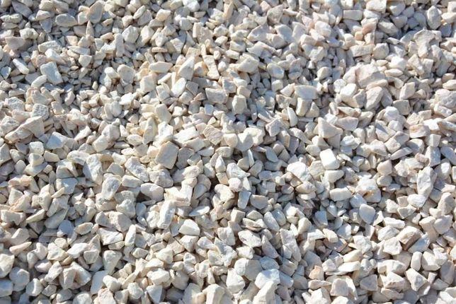 Biała Marianna - grys biały 8-16mm -kamień ogrodowy dekoracyjny