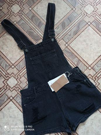 Новый джинсовый комбинезон_ шорты