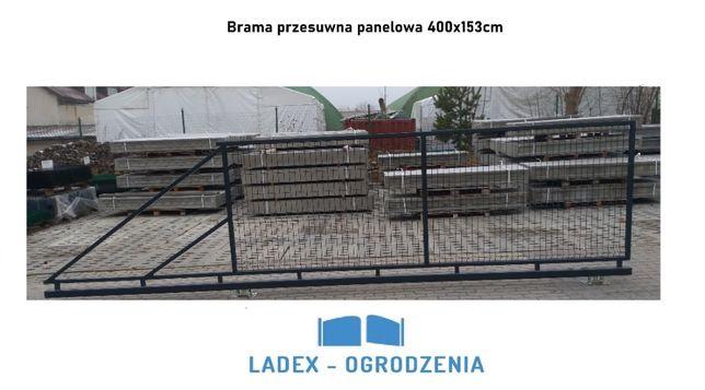 Brama przesuwna panelowa 4m, skrzydłowa, furtka, brama panelowa