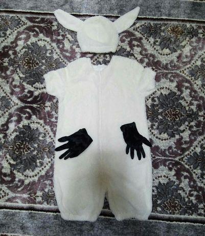 Костюм барашка для детей (комбинизон,шапочка и перчатки