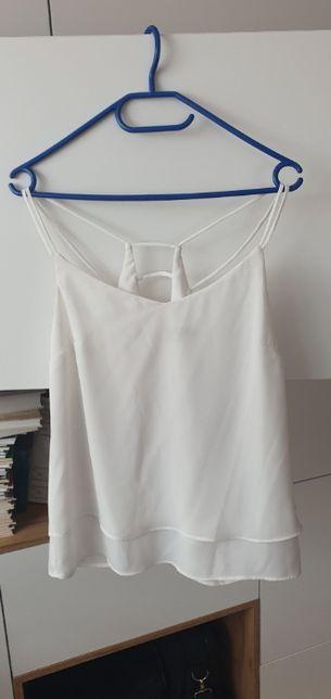 Biała, zwiewna bluzka na ramiączkach Top Secret, r.36
