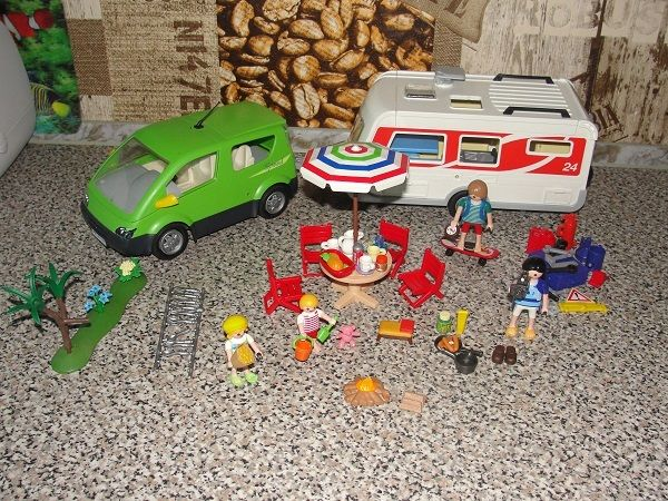Playmobil Auto + Przyczepa Kempinngowa 5434