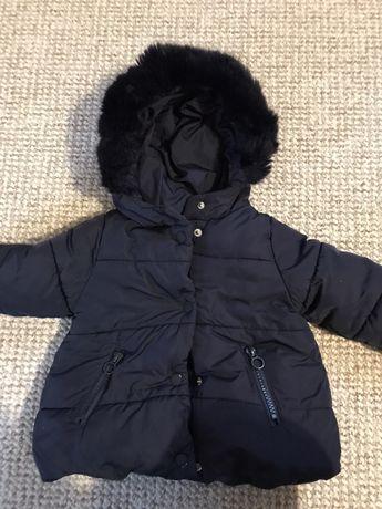 Kurteczka zimowa Zara 6-9 m-cy ciepła