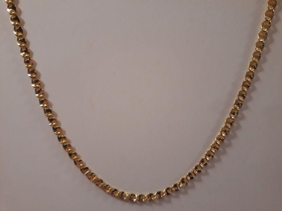 złoty łańcuszek,pozłacany łańcuszek,14k,585,Italy,NOWY 89ZŁ Ostrów Wielkopolski - image 1