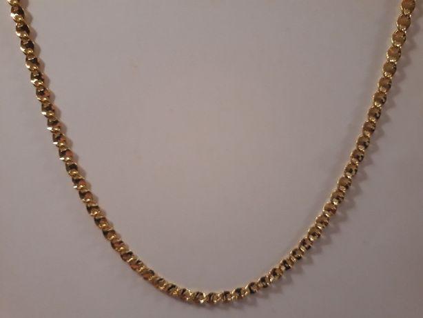 złoty łańcuszek,pozłacany łańcuszek,14k,585,Italy,NOWY 89ZŁ