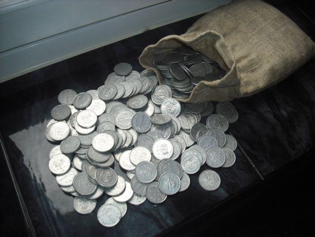 500 monet 1 złotowych w worku-najczęściej lata 80-te