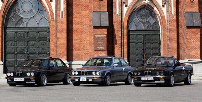 Auto do ślubu BMW E30 cabrio/coupe/sedan youngtimer wynajem samochodu