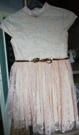 Красивое пудровое платье (Турция)