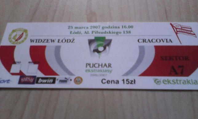 bilet Widzew Łodź-Cracovia 25.03.2007 Puchar Ekstraklasy