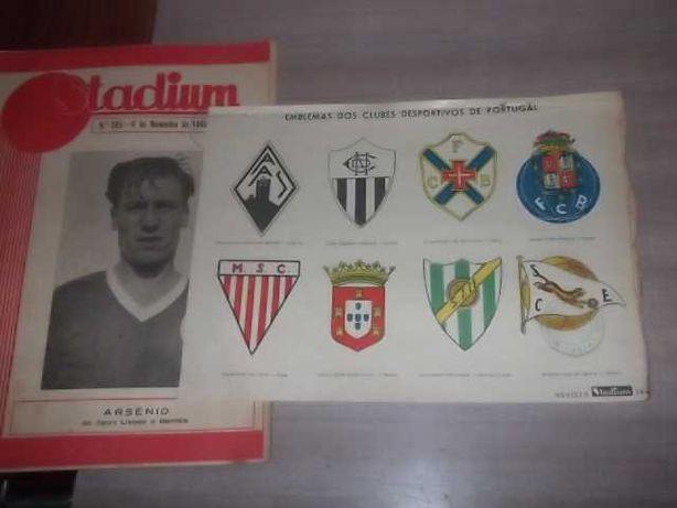 Revista STADIUM nº 205 c/Separata EMBLEMAS CLUBES DESPORTIVOS PORTUGAL