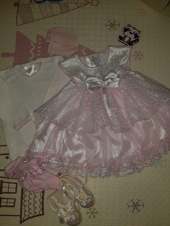 Платье для девочки, набор на выписку, крестины
