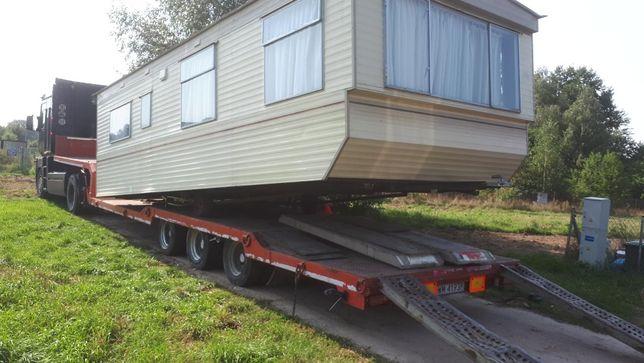 Transport domków holenderskich ponadgabarytów niskopodwozie
