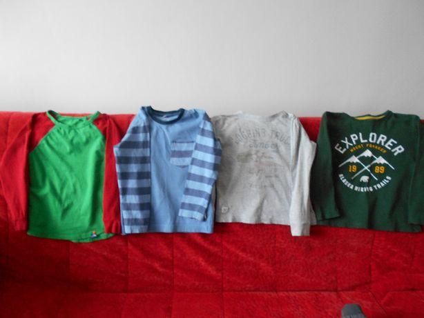 Bluzki długi rękaw dla chłopca w rozm110 bawełana 100%