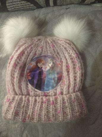 Красивая шапочка теплая на девочку 3-4 года