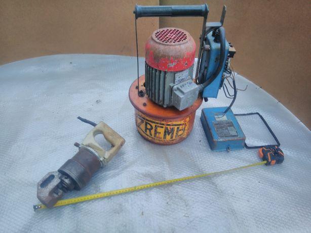 Nożyce hydrauliczne do prętów zbrojeniowych gilotyny agregat zremb