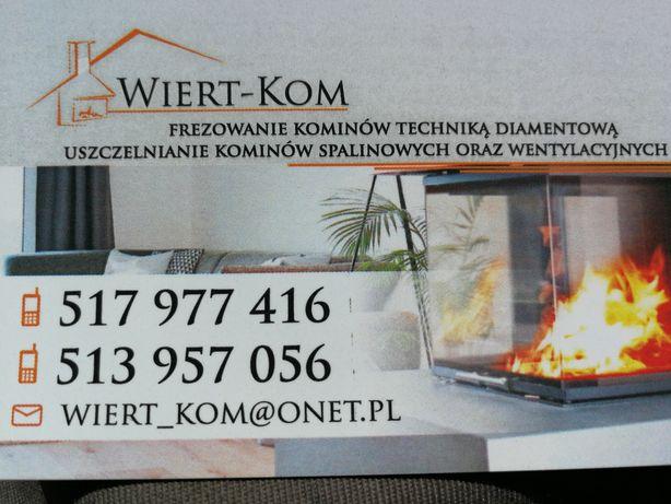 Frezowanie , uszczelnianie , remont komina