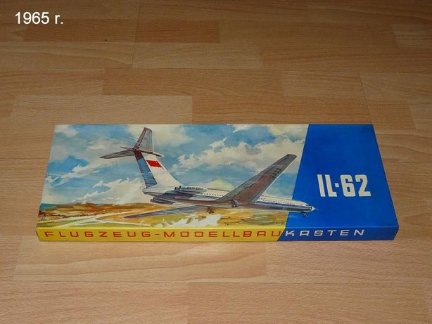 Model Samolotu Ił-62 1:100 -Veb Plasticart Antyk!