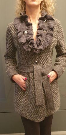 Plaszcz sweter kardigan wełna Lana wyprzedaż