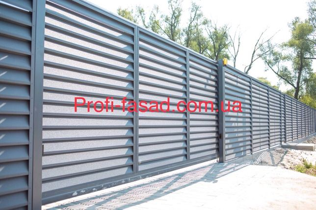 Забор Жалюзи Паркан Жалюзі металлический Ламелі Ранчо эксклюзив