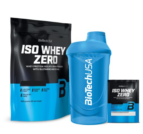 Białko BioTechUSA Iso Whey Zero 500g Gratisy