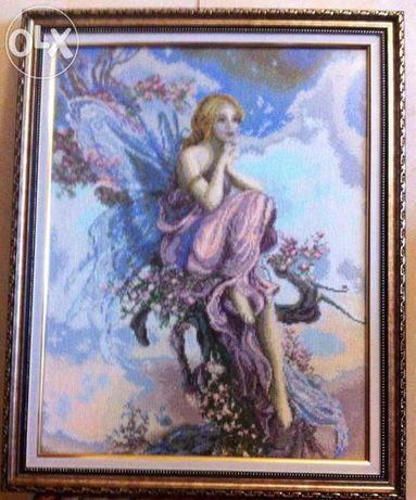 """Картина """"Волшебный Ангел"""" вышитая крестиком"""
