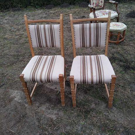 Krzesla rzezbione dwie sztuki