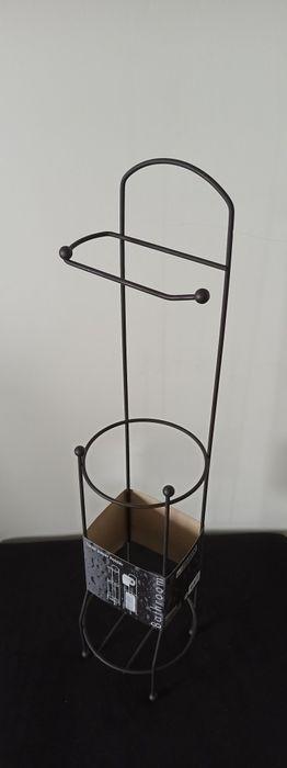 Stojak na papier toaletowy Czarny Mat Rogów - image 1