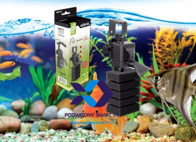 Aquael PAT-MINI filtr wewnętrzny nowy 2 lata gwar. - akwarium