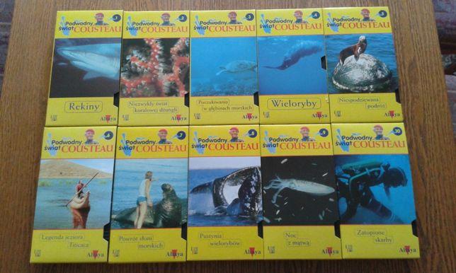 Podwodny Świat Cousteau - 10 kaset VHS