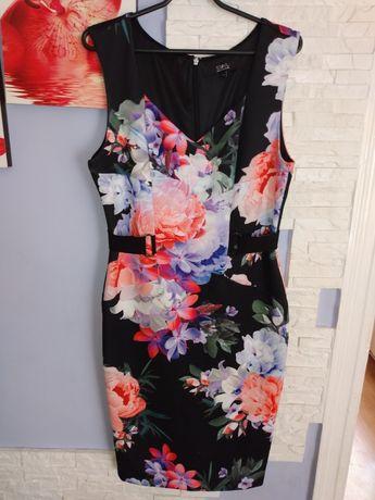 Sukienka MIDI w kwiaty L/xl