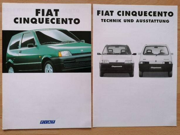 Prospekt Fiat Cinquecento 0.9 i.e. Suite Sporting + dane techniczne