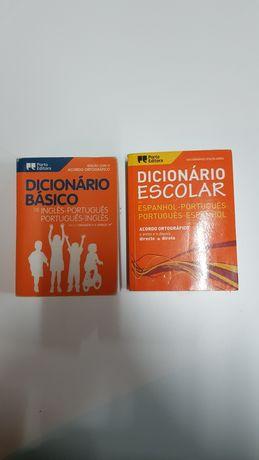 Dicionários de Inglês e de Espanhol Porto Editora