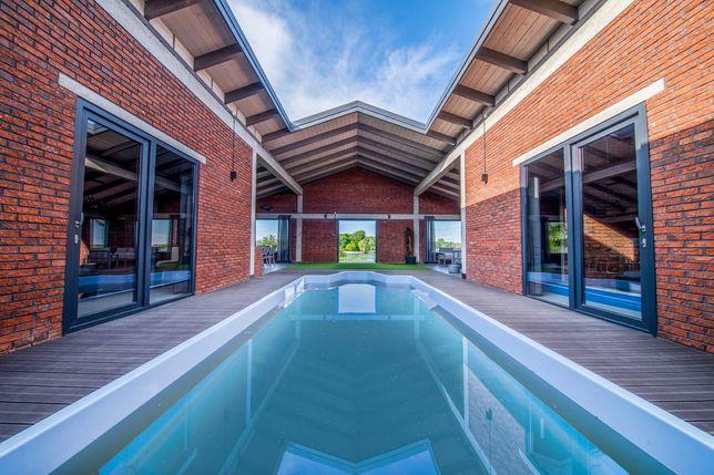 Glamp Villa Luksusowy Dom nad jeziorem na wyłączność Basen i Sauna