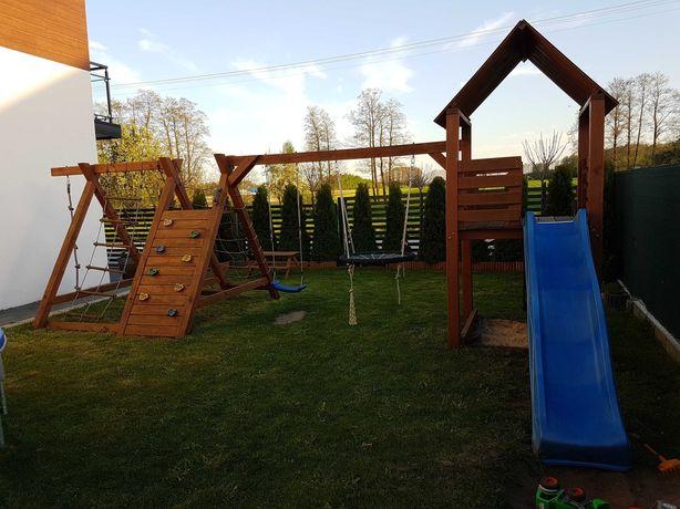 Drewniany plac zabaw dla dzieci- używany- Rezerwacja