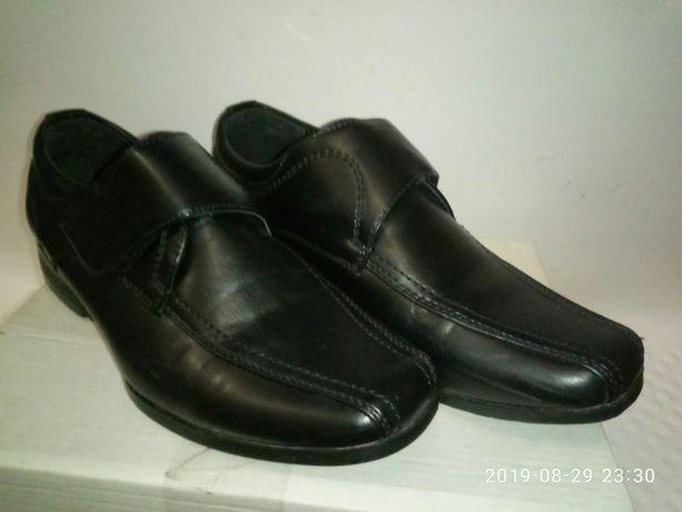 фирменные туфли в школу натуральная кожа