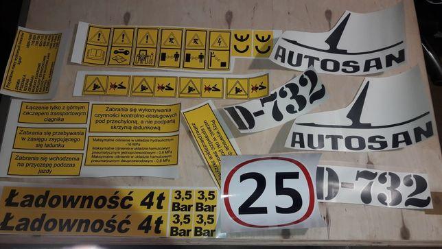 Naklejki przyczepa autosan d 732 d 55 d44 d 47