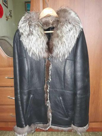 Дублянка жіноча шкіряна з чорнобуркою