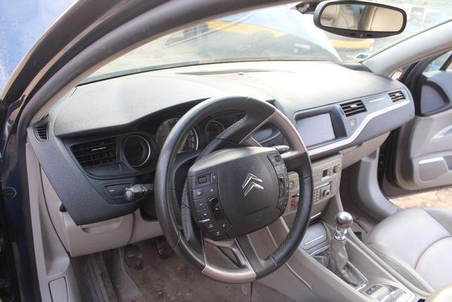 Kierownica multifunkcyjna skórzana Citroen C5 III rok 2008