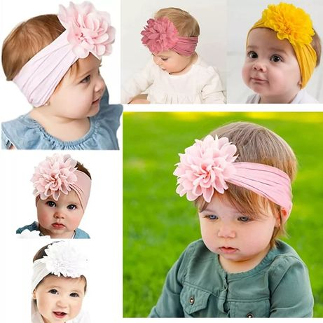 Фиолетовая повязка на голову для девочки бант бантик