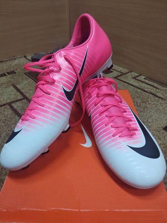 Бутсы , Nike Mercurial, бело-розовые