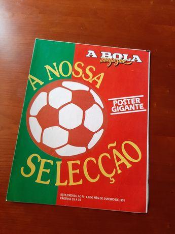Poster A BOLA com desdobrável suplemento 1991