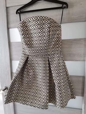Sukienka, rozmiar 38 (pasuje na 36), kolor złoty, niezniszczona