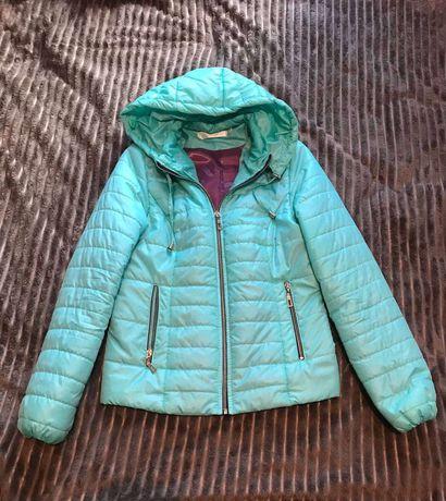Куртка курточка весенняя осенняя демисезонная женская бирюзовая