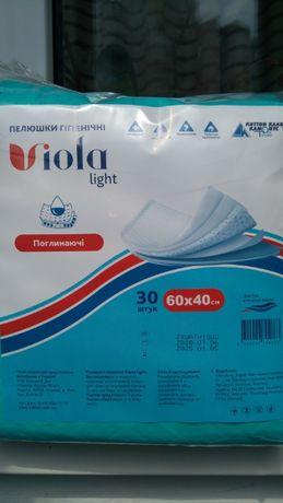 Пеленки одноразовые Виола light 60 х 40 - 30 штук