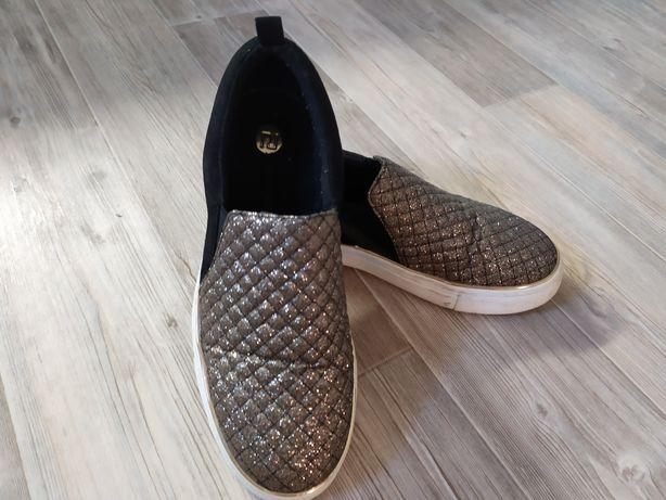 Buty trampki złote RIVER ISLAND piękne r.39