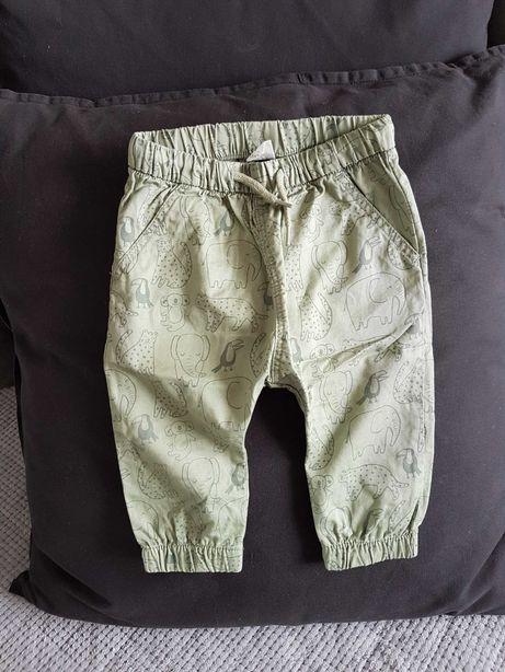 Spodnie khaki baggy safari H&M 74